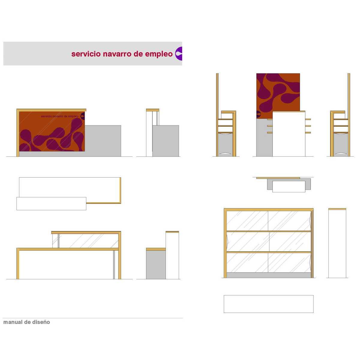 Detalles del mobiliario en el Manual de Diseño.